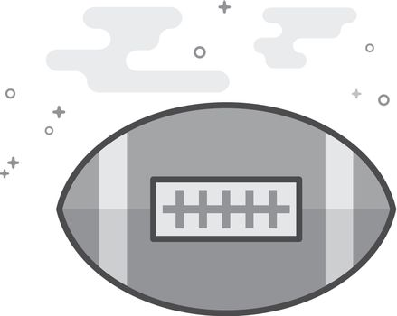 Flat Grayscale Icon - Football