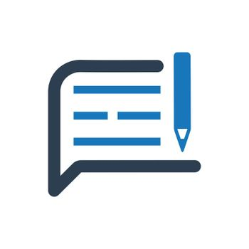 """Meticulously Designed """"Write A Note icon. Meticulously designed vector EPS file."""""""