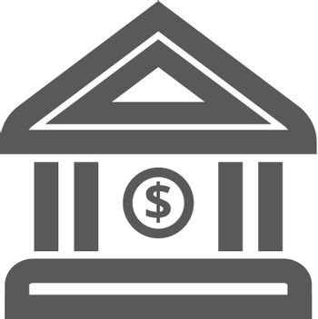 Outline Icon - Bank building
