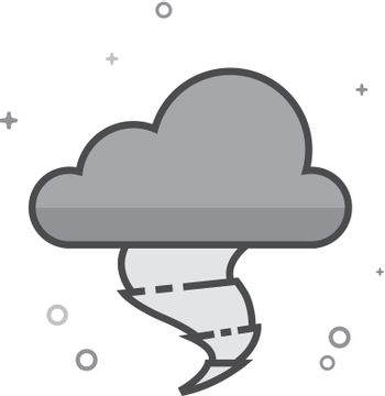 Flat Grayscale Icon - Storm