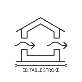 Ventilation system linear icon