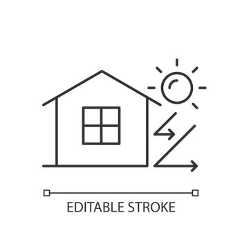 Heat insulation linear icon