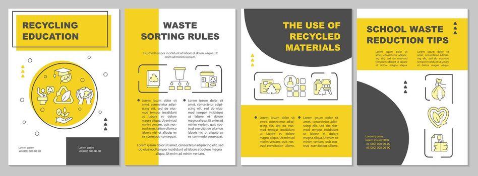 Ecological education brochure template