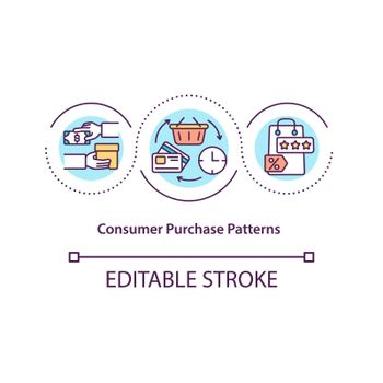 Consumer purchase patterns concept icon