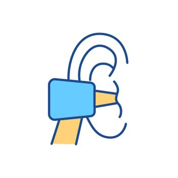 Ear irrigation RGB color icon