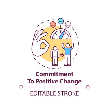 Commitment to positive change concept icon