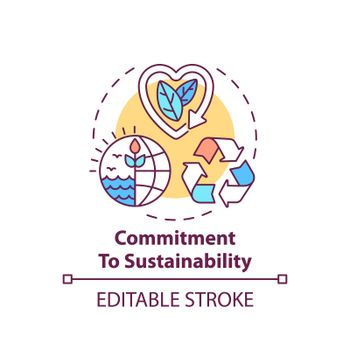 Commitment to sustainability concept icon