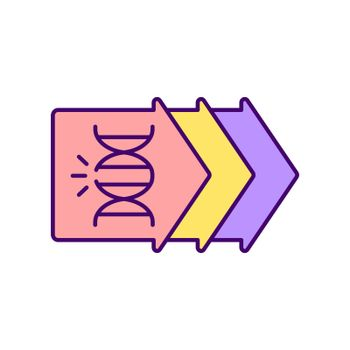Genetic evolution RGB color icon