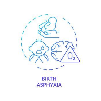 Birth asphyxia concept icon