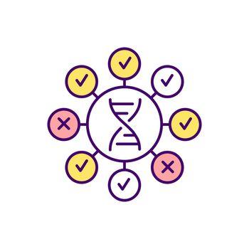 Human DNA testing RGB color icon