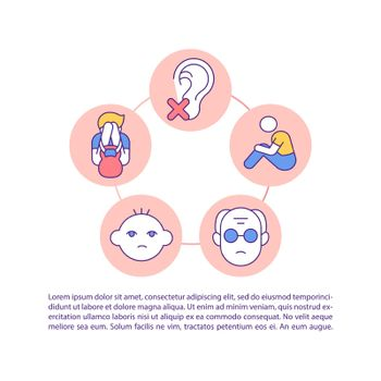 Loneliness feeling concept line icons with text