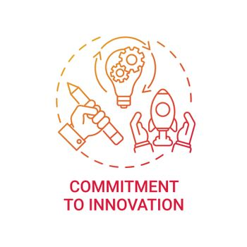 Commitment to innovation concept icon