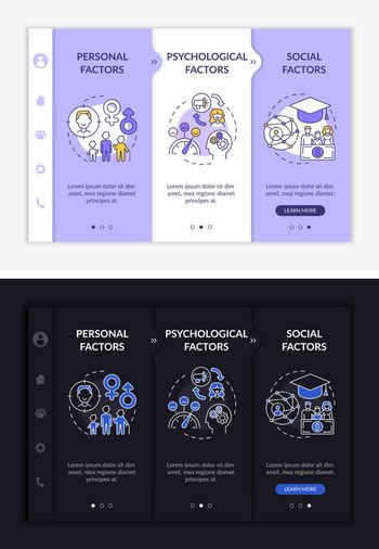 Purchase selection onboarding vector template