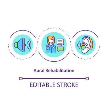 Aural rehabilitation concept icon