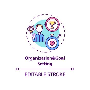 Organization and goal setting concept icon