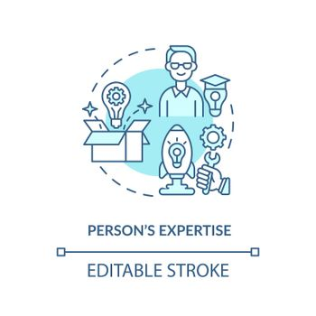 Person expertise blue concept icon