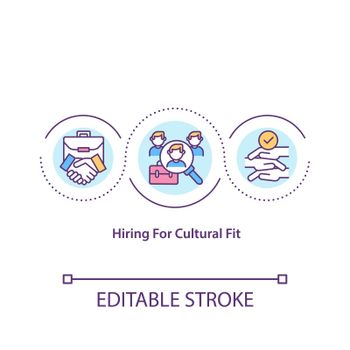 Hiring for cultural fit concept icon