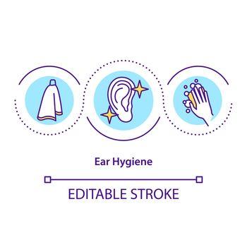 Ear hygiene concept icon
