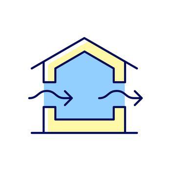 Ventilation system RGB color icon