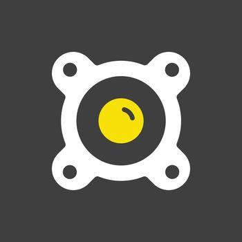 Acoustic speaker vector flat icon