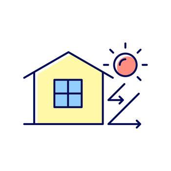 Heat insulation RGB color icon
