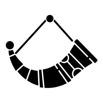 Drinking horns black glyph icon