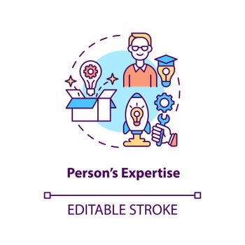 Person expertise concept icon