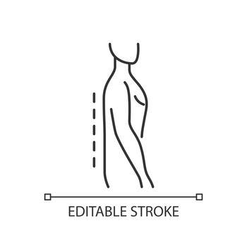 Flatback syndrome linear icon