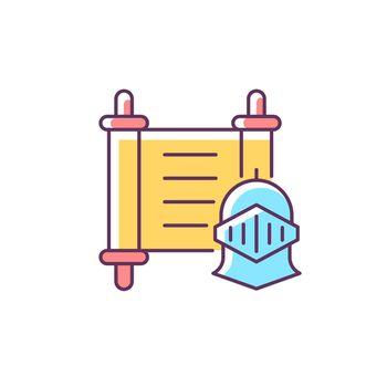History RGB color icon