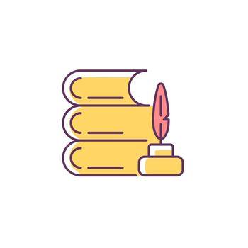 Literature RGB color icon