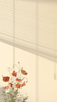 Aesthetic flower wallpaper background vector