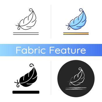 Lightweight fabric property icon