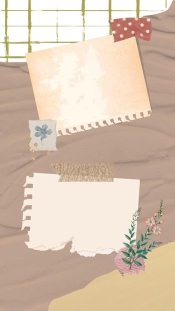 Aesthetic paper notes background wallpaper vector