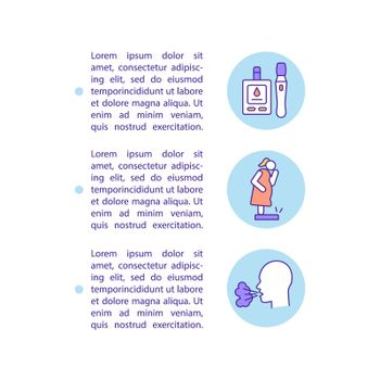 Unhealthy behavior outcomes concept line icons with text