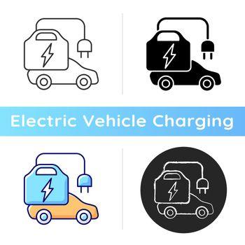 Portable EV charger icon