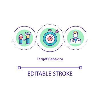 Target behavior concept icon