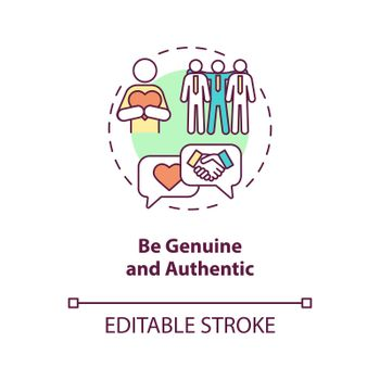 Be genuine and authentic concept icon