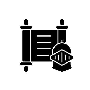 History black glyph icon