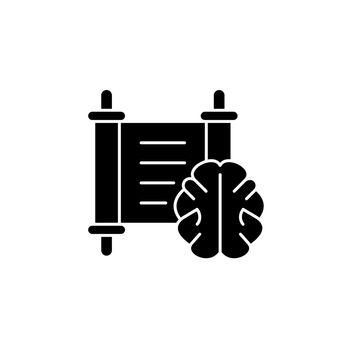 Philosophy black glyph icon