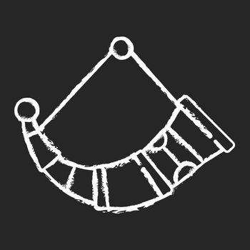 Drinking horns chalk white icon on black background