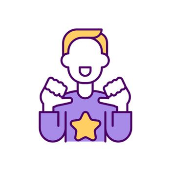 Opinion leader RGB color icon