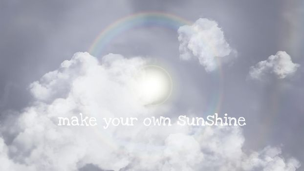 Sun halo vector sky template for blog banner