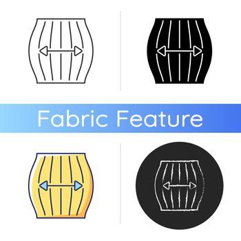 Stretch fabric property icon
