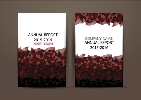 Cover Design template, annual report cover, flyer, presentation, brochure. Front page design layout template with bleed in A4 size.