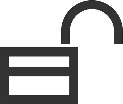 Outline Icon - Padlock unlocked