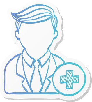 Sticker style icon - Add team member