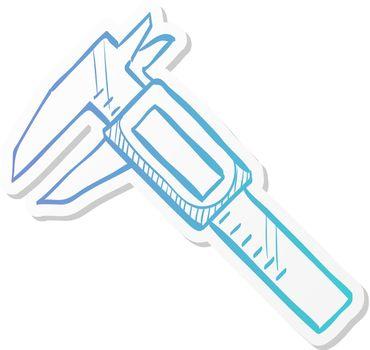 Sticker style icon - Digital caliper