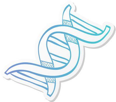 Sticker style icon - DNA strands