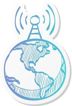 Sticker style icon - Globe