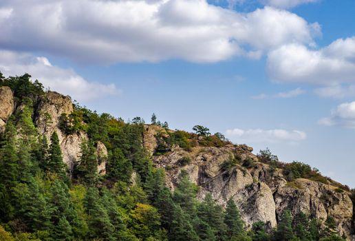 Rural Caucasus mountain landscape